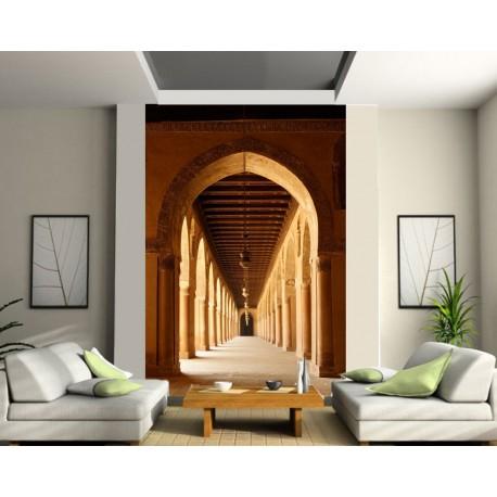 papier peint g ant couloir vout art d co stickers. Black Bedroom Furniture Sets. Home Design Ideas