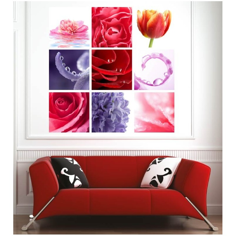 affiche poster d co fleurs art d co stickers. Black Bedroom Furniture Sets. Home Design Ideas