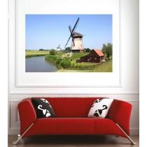 Affiche poster moulin à vent