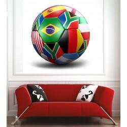 Affiche poster ballon drapeau
