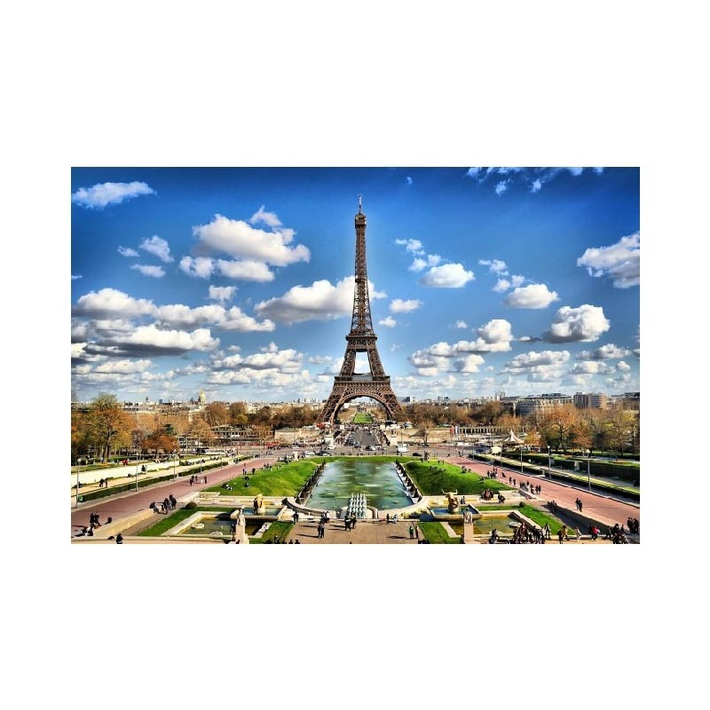 affiche poster ville paris tour eiffel art d co stickers. Black Bedroom Furniture Sets. Home Design Ideas