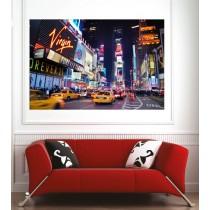 Affiche poster ville New York taxi la nuit