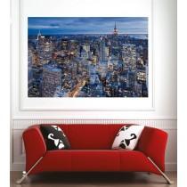 Affiche poster ville New York vue du ciel
