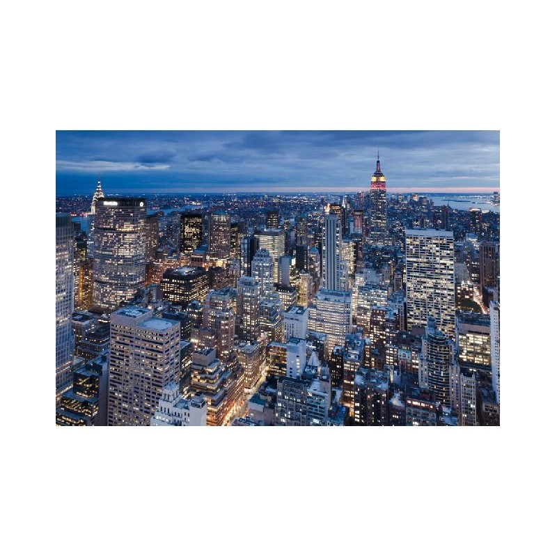 affiche poster ville new york vue du ciel art d co stickers. Black Bedroom Furniture Sets. Home Design Ideas
