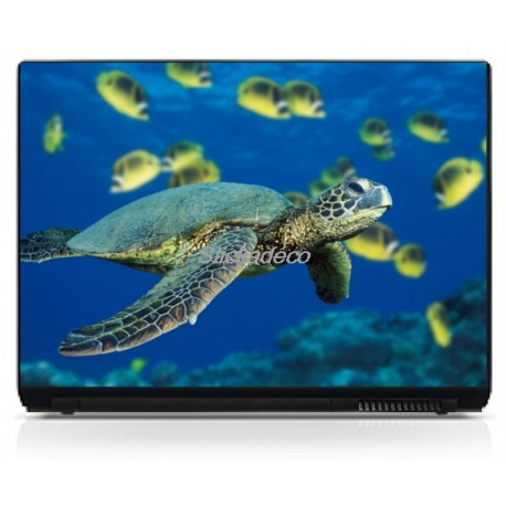 Stickers Autocollants PC portable Tortue