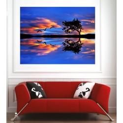 Affiche poster couché de soleil