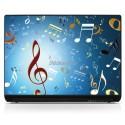 Sticker PC portable note de musique