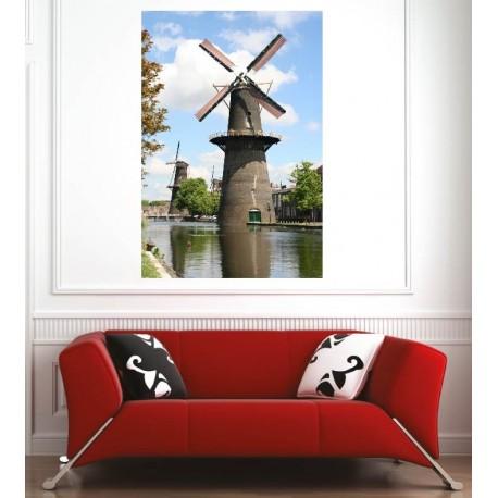 Affiche poster moulin vent art d co stickers for Moulin a vent deco