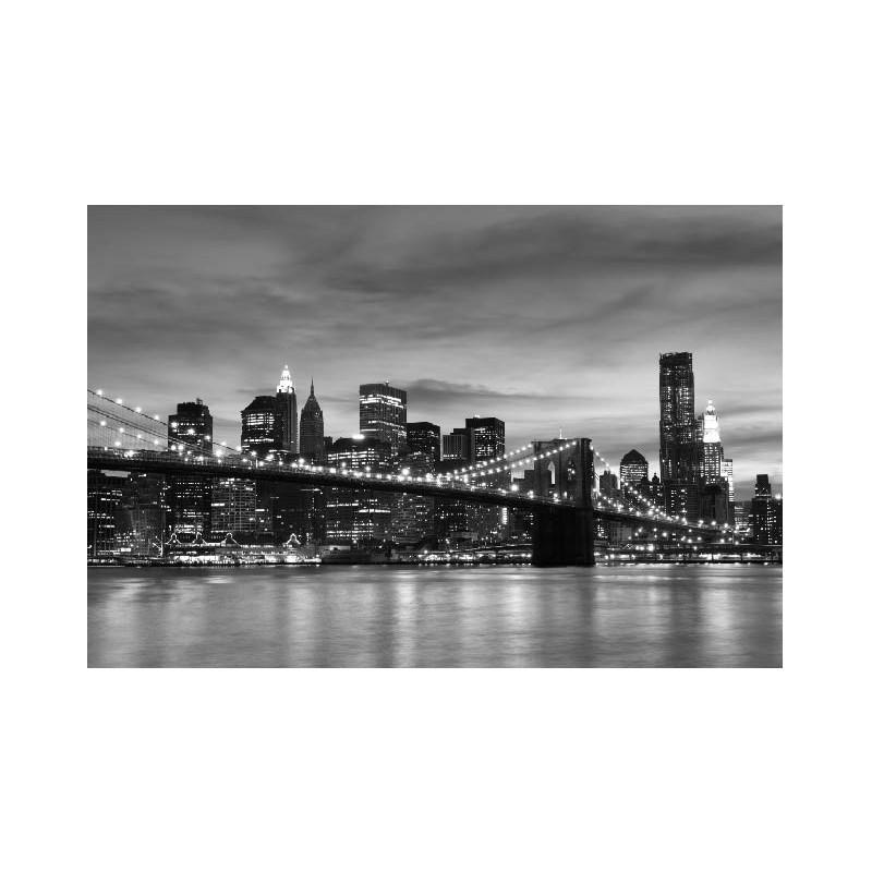 affiche poster ville pont de brooklyn new york art d co stickers. Black Bedroom Furniture Sets. Home Design Ideas
