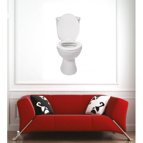 affiche poster cuvette wc art d co stickers. Black Bedroom Furniture Sets. Home Design Ideas