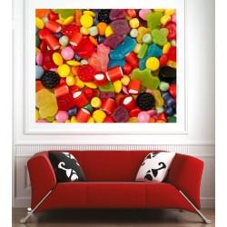 Affiche poster mélange de bonbons