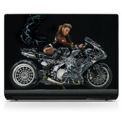 Sticker PC portable Moto