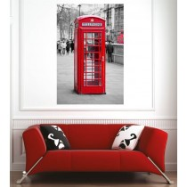 Affiche poster ville Londres cabine anglaise