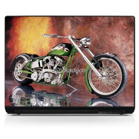 Stickers Autocollants PC portable Moto Harley