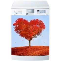 Stickers lave vaisselle ou magnet lave vaisselle Arbre coeur