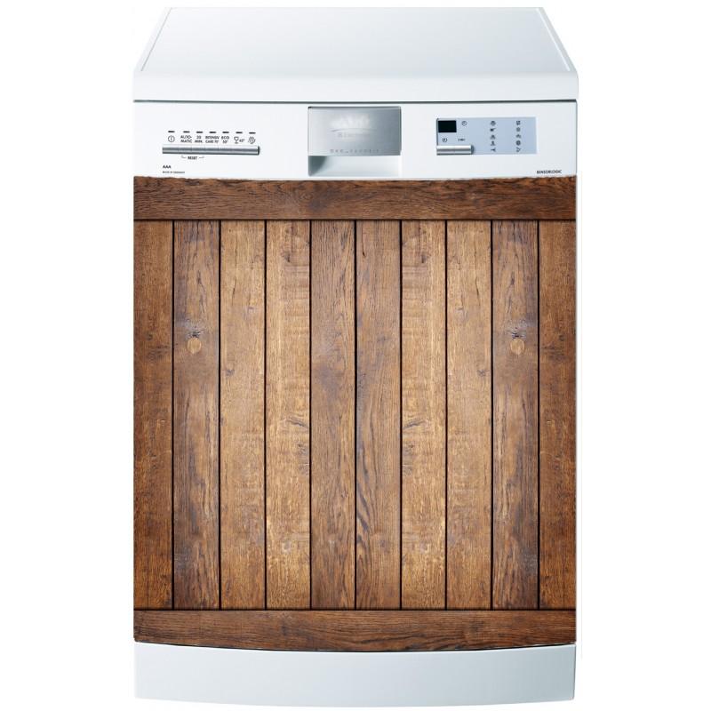 stickers lave vaisselle ou magnet lave vaisselle bois. Black Bedroom Furniture Sets. Home Design Ideas