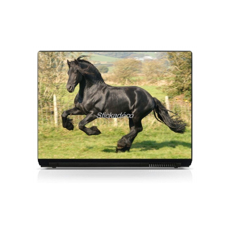 stickers autocollants pc portable cheval art d co stickers. Black Bedroom Furniture Sets. Home Design Ideas