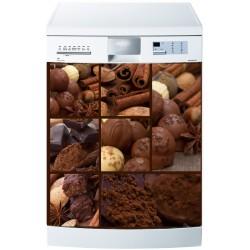 Stickers lave vaisselle ou magnet lave vaisselle Chocolat
