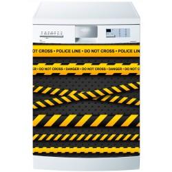 Stickers lave vaisselle ou magnet lave vaisselle Police Danger