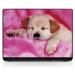 Stickers Autocollants PC portable Chiot