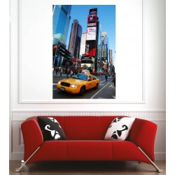 Affiche poster ville taxi New York