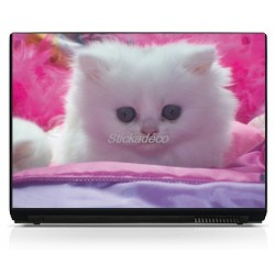 Sticker PC portable Chaton