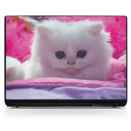 Stickers Autocollants PC portable Chaton
