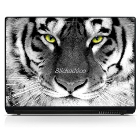 Stickers Autocollants PC portable Tigre