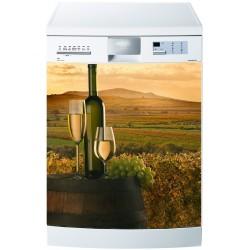 Stickers lave vaisselle ou magnet lave vaisselle Vin