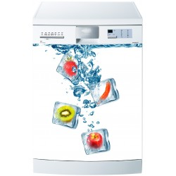 Stickers lave vaisselle ou magnet lave vaisselle Glaçons