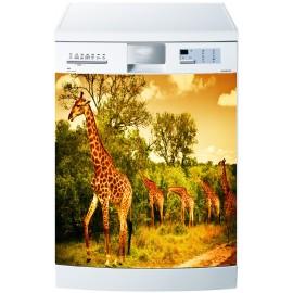 Stickers lave vaisselle ou magnet lave vaisselle Girafe