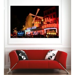 Affiche poster ville Paris moulin rouge
