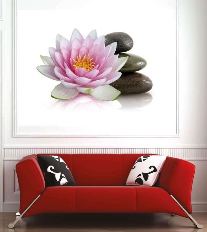 Tableaux toiles déco en kit Fleur de Lotus réf 63448990