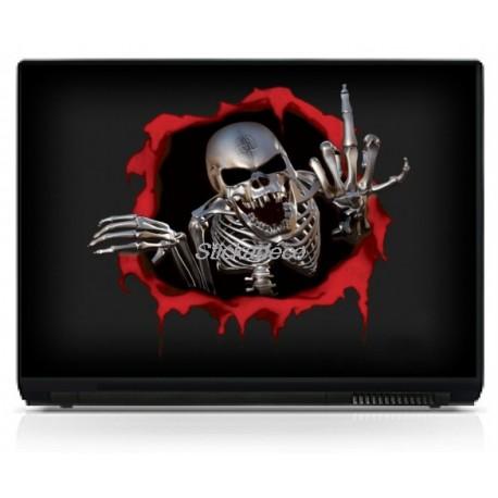 Stickers Autocollants PC portable Skull