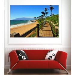 Affiche poster chemin bord de plage