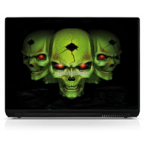 Stickers Autocollants PC portable Skulls