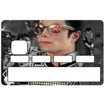 2 Stickers Autocollants Skin Carte de Crédit CB Michael Jackson ref 011