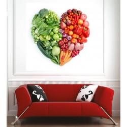 Affiche poster fruits et légumes coeur