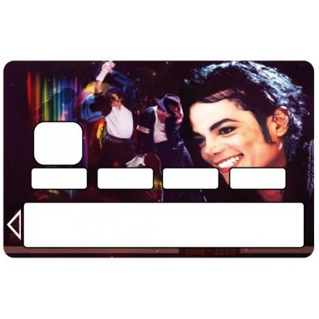 2 Stickers Autocollants Skin Carte de Crédit CB Michael Jackson ref 012