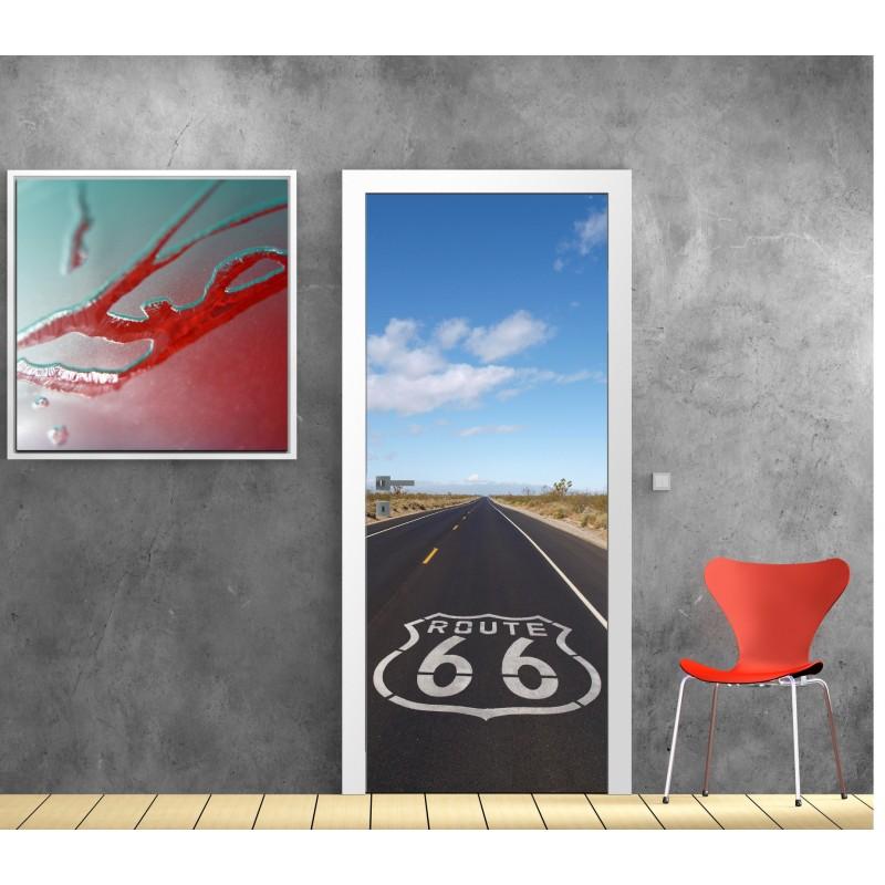 stickers porte d co route 66 art d co stickers. Black Bedroom Furniture Sets. Home Design Ideas