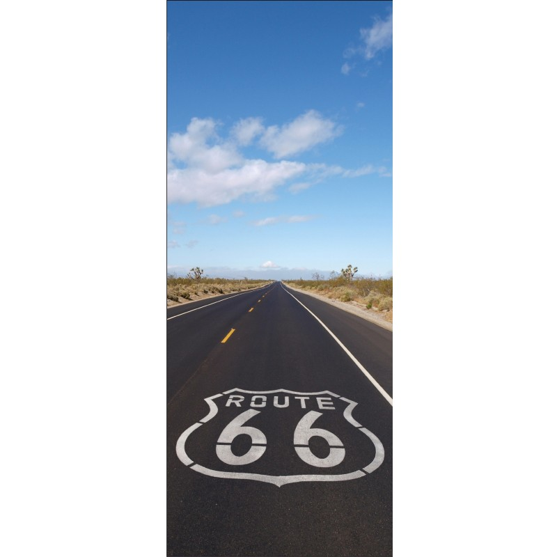stickers porte d co route 66 art d co stickers. Black Bedroom Furniture Sets. Home Design Ideas