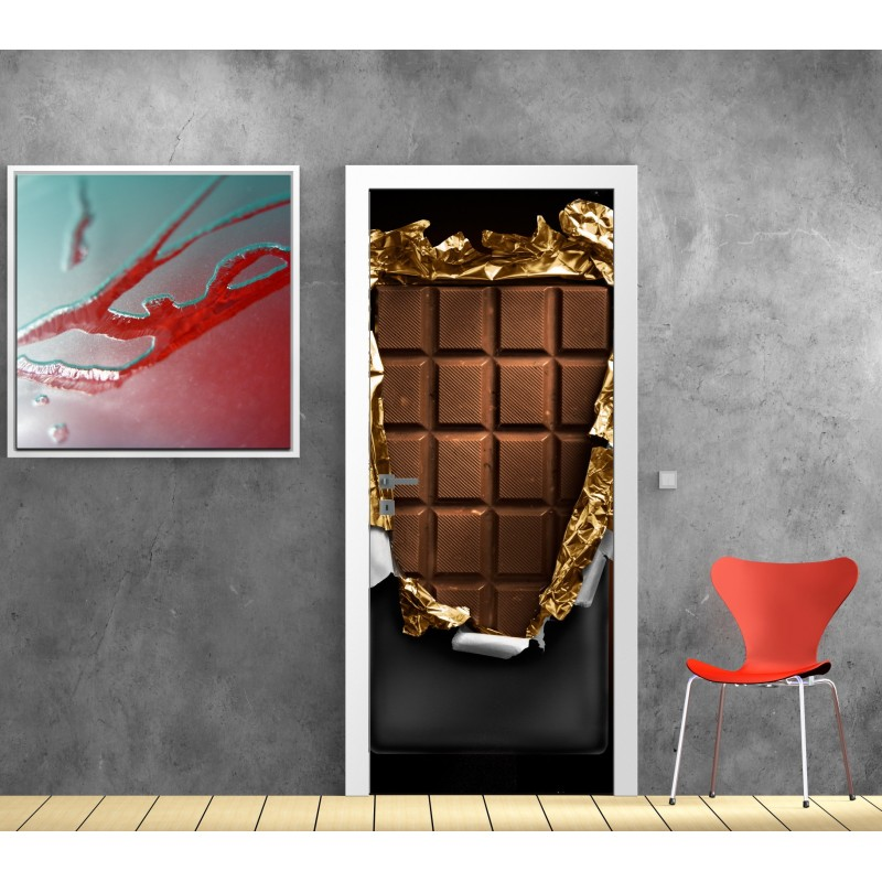 affiche poster porte d co chocolat art d co stickers. Black Bedroom Furniture Sets. Home Design Ideas