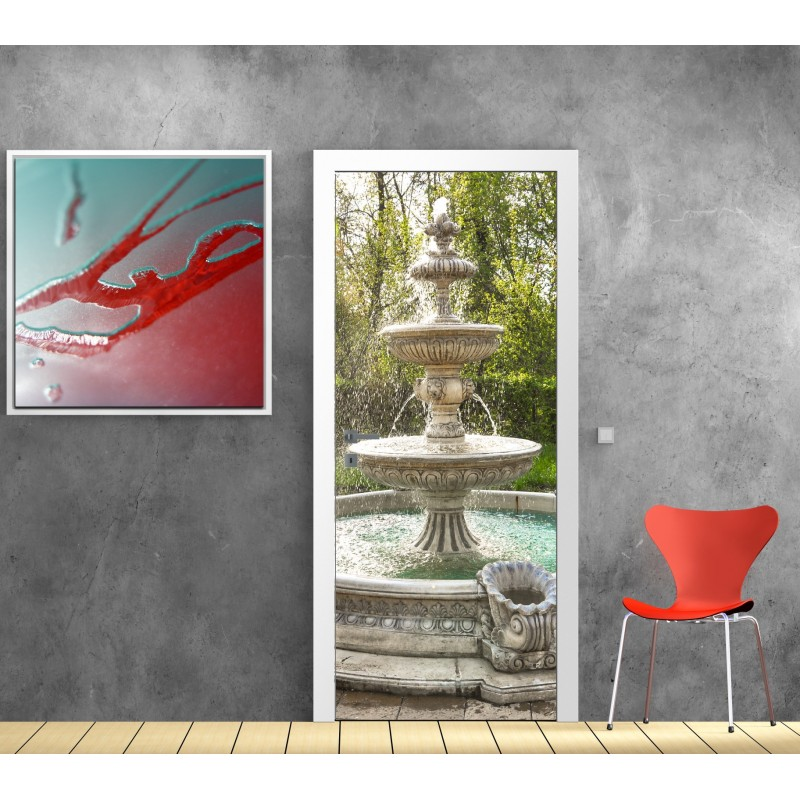 affiche poster porte d co fontaine art d co stickers. Black Bedroom Furniture Sets. Home Design Ideas