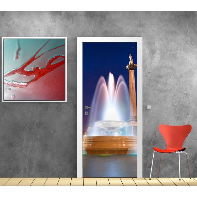 papier peint porte d co fontaine art d co stickers. Black Bedroom Furniture Sets. Home Design Ideas