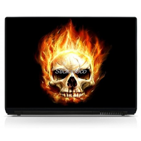 Stickers Autocollants PC portable Skull 4