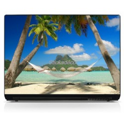 Stickers Autocollants PC portable Caraibes
