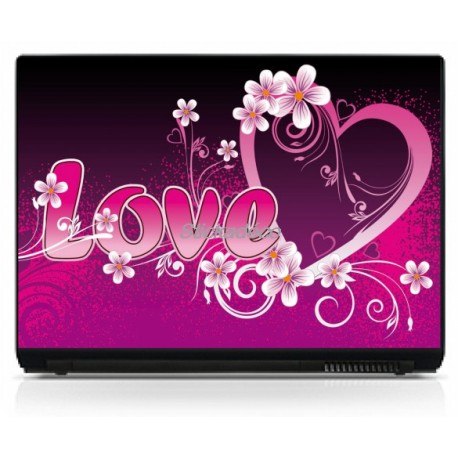 Stickers Autocollants PC portable Love 3