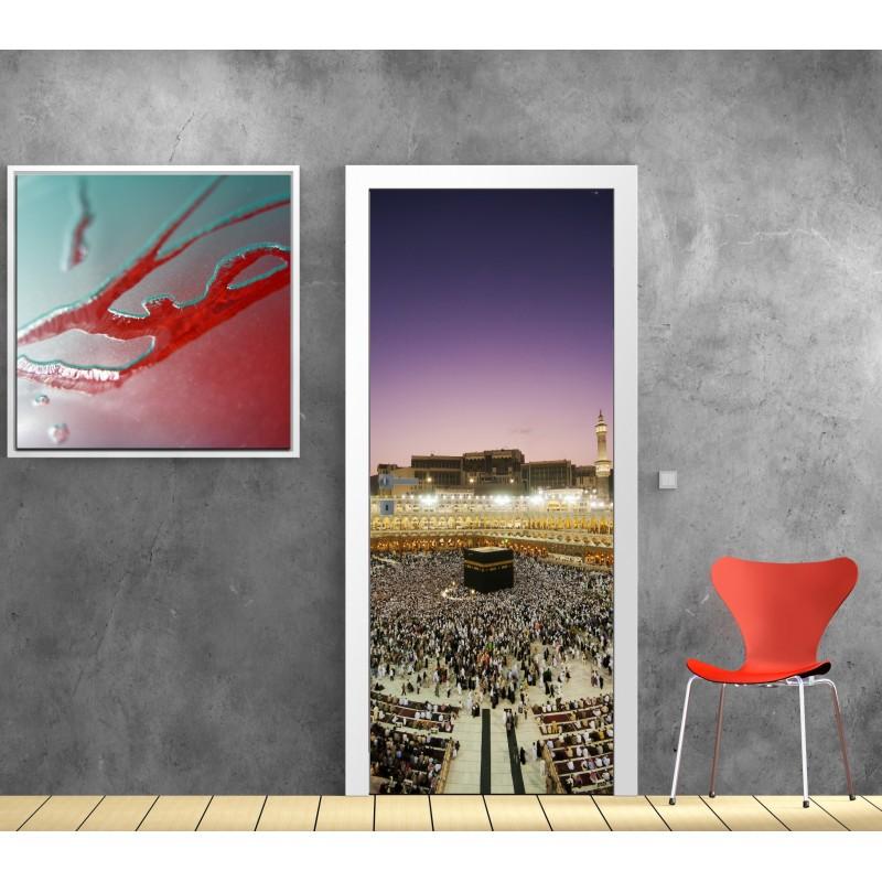 affiche poster porte d co la mecque art d co stickers. Black Bedroom Furniture Sets. Home Design Ideas