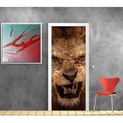 Affiche poster porte déco Lion