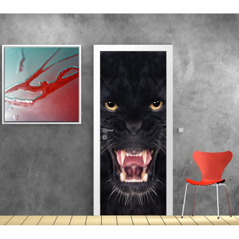 affiche poster porte d co puma art d co stickers. Black Bedroom Furniture Sets. Home Design Ideas